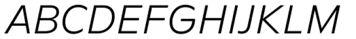 FF Neuwelt Text Light Italic  Font UPPERCASE