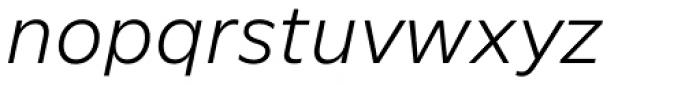 FF Neuwelt Text Light Italic  Font LOWERCASE