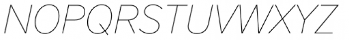 FF Nort Thin Italic Font UPPERCASE