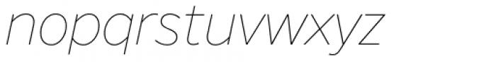 FF Nort Thin Italic Font LOWERCASE