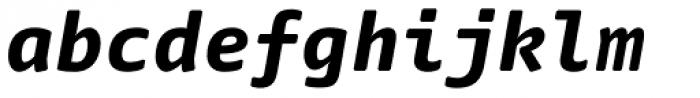 FF Nuvo Mono Pro ExtraBold Italic Font LOWERCASE