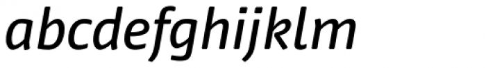 FF Nuvo Pro Med Italic Font LOWERCASE