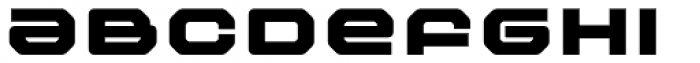 FF Outlander Std Black Font LOWERCASE