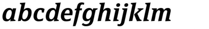 FF Page Serif OT Demi Italic Font LOWERCASE