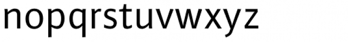FF Plus Sans Pro Font LOWERCASE