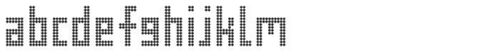 FF Pop LED OT Regular Font LOWERCASE