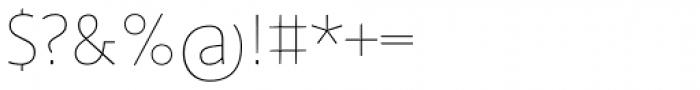 FF Profile OT Thin Font OTHER CHARS