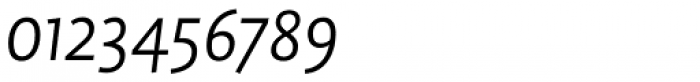 FF Profile Pro Light Italic Font OTHER CHARS