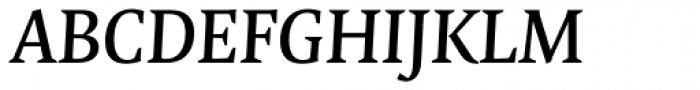 FF Quadraat OT DemiBold Italic Font UPPERCASE