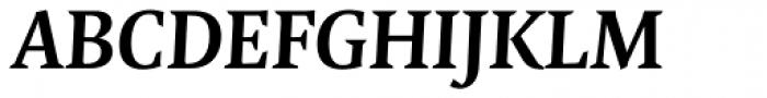 FF Quadraat Pro Bold Italic Font UPPERCASE