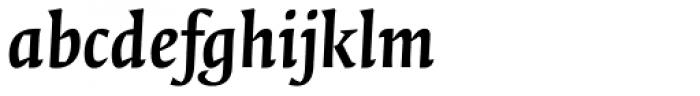 FF Quadraat Pro Bold Italic Font LOWERCASE