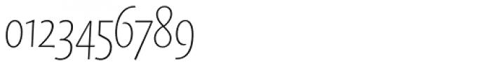 FF Quadraat Sans OT Condensed Thin Italic Font OTHER CHARS