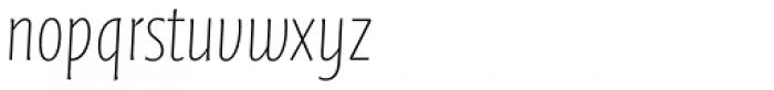 FF Quadraat Sans OT Condensed Thin Italic Font LOWERCASE