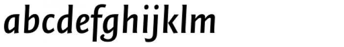 FF Quadraat Sans OT DemiBold Italic Font LOWERCASE