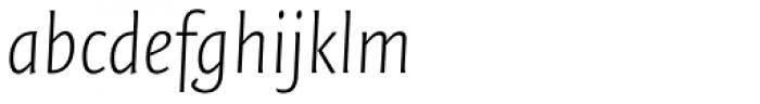 FF Quadraat Sans OT ExtraLight Italic Font LOWERCASE