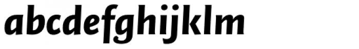 FF Quadraat Sans Pro Black Italic Font LOWERCASE