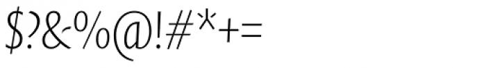 FF Quadraat Sans Pro Condensed ExtraLight Italic Font OTHER CHARS