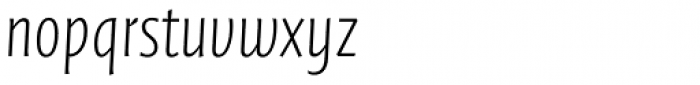 FF Quadraat Sans Pro Condensed ExtraLight Italic Font LOWERCASE