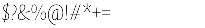 FF Quadraat Sans Pro Condensed Thin Italic Font OTHER CHARS