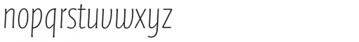 FF Quadraat Sans Pro Condensed Thin Italic Font LOWERCASE