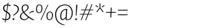 FF Quadraat Sans Pro ExtraLight Italic Font OTHER CHARS