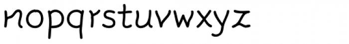 FF Rattlescript OT Light Font LOWERCASE