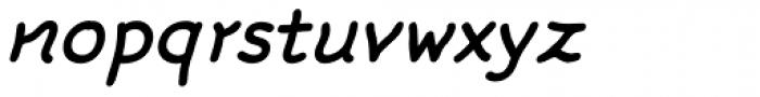FF Rattlescript OT Medium Oblique Font LOWERCASE
