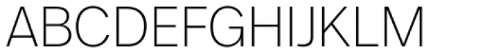 FF Real Head Pro ExtraLight Font UPPERCASE