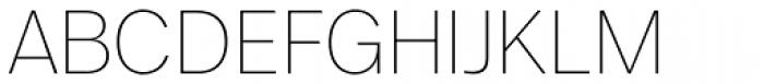 FF Real Head Pro UltraLight Font UPPERCASE