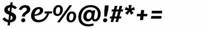 FF Real Text Pro Demibold Italic Font OTHER CHARS