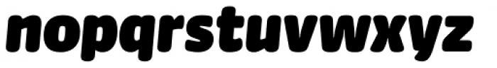 FF Sanuk Round Ultra Italic Font LOWERCASE