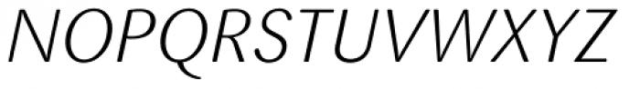 FF Sari Pro Light Italic Font UPPERCASE