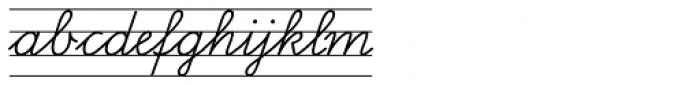 FF Schulschrift OTB Erstes Vier Font LOWERCASE
