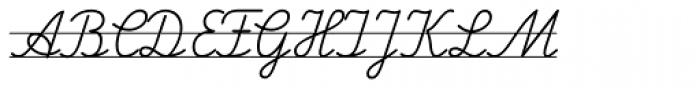 FF Schulschrift OTB Linien Zwei Font UPPERCASE
