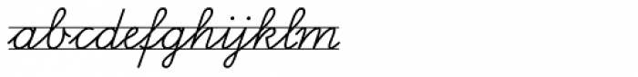FF Schulschrift OTB Linien Zwei Font LOWERCASE