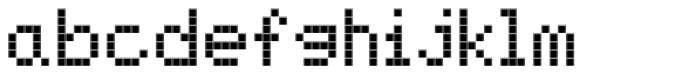 FF Screen Matrix Regular Font LOWERCASE