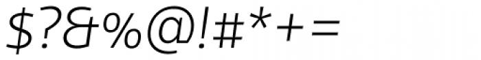 FF Scuba OT ExtraLight Italic Font OTHER CHARS