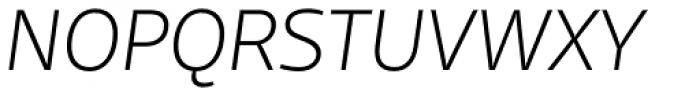 FF Scuba OT ExtraLight Italic Font UPPERCASE