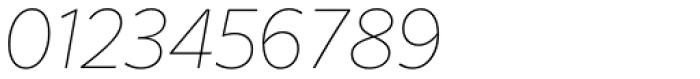 FF Sero OT ExtraThin Italic Font OTHER CHARS
