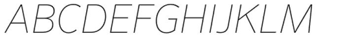 FF Sero OT ExtraThin Italic Font UPPERCASE
