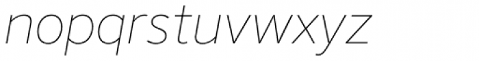 FF Sero OT ExtraThin Italic Font LOWERCASE