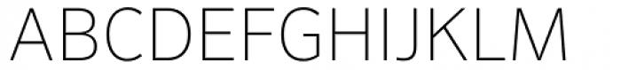 FF Sero Std SC Thin Font UPPERCASE
