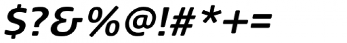FF Signa Round Pro Bold Italic Font OTHER CHARS