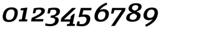 FF Signa Slab OT DemiBold Italic Font OTHER CHARS