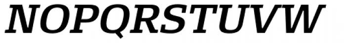 FF Signa Slab OT DemiBold Italic Font UPPERCASE