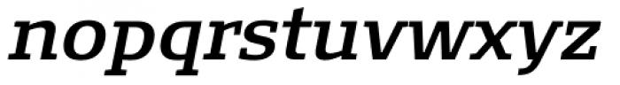 FF Signa Slab OT DemiBold Italic Font LOWERCASE
