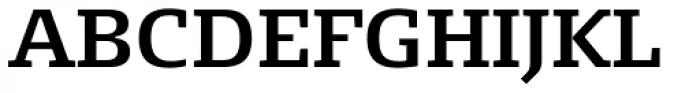 FF Signa Slab OT DemiBold Font UPPERCASE