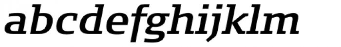 FF Signa Slab Pro DemiBold Italic Font LOWERCASE