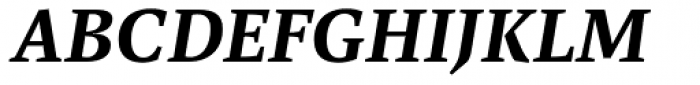 FF Spinoza OT Medium Italic Font UPPERCASE