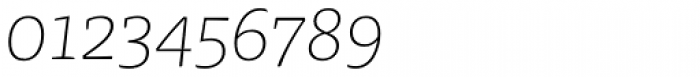 FF Tisa Pro Thin Italic Font OTHER CHARS